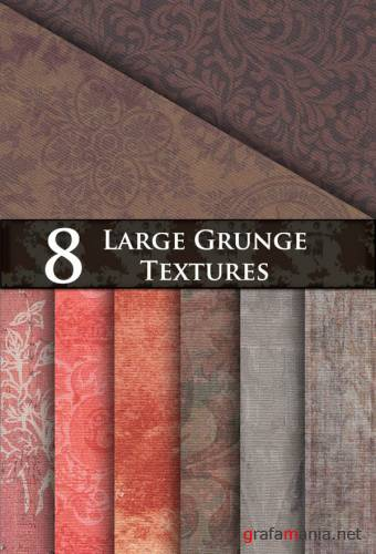 Текстуры для Photoshop - 8 Large Grunge Textures
