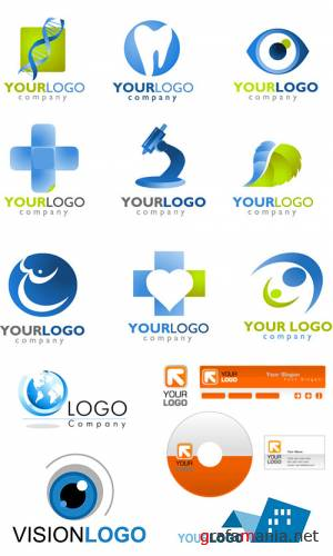 templates of logos and icons