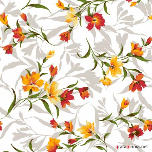 Vector - Flowers Backgrounds Pack