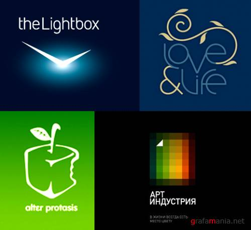 Fresh pack of modern logotipes