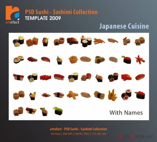 artefact - PSD Japanese Cuisine Collection (Sushi & Sashimi)