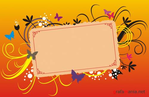Floral Frame, Lable and Banners