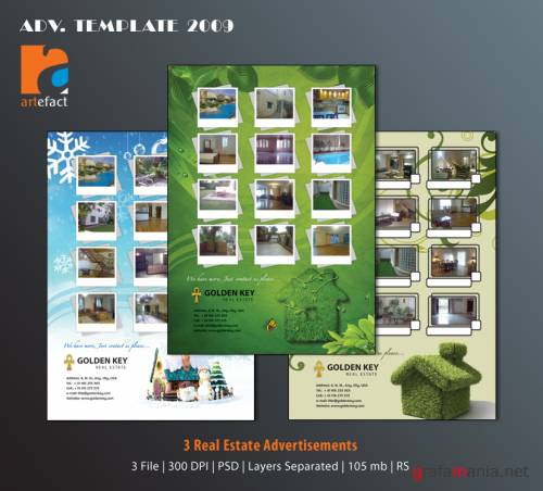 artefact - Real Estate Advertisements PSD Templates - 2009