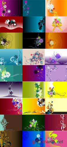 2009 floral background ����� 2