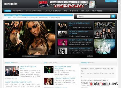 GK MusicTube - Media Center Joomla Template