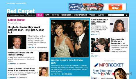 Red Carpet Magazine - Free WordPress Theme