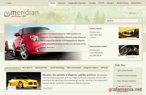 RT Meridian - Your Automobile Joomla Template