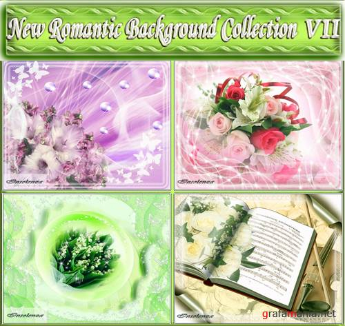 New Romantic Background Collection VII (PSD)