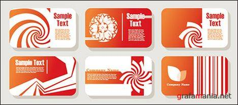 Red Business Cards Vectors