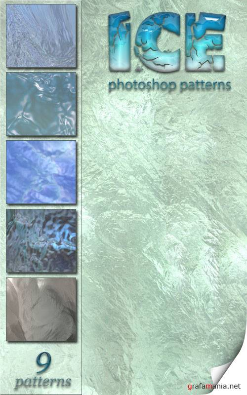 Заливки для Photoshop - Ice Patterns