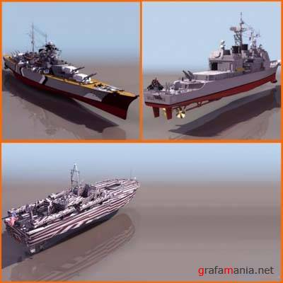 Battle Ships 3D Models