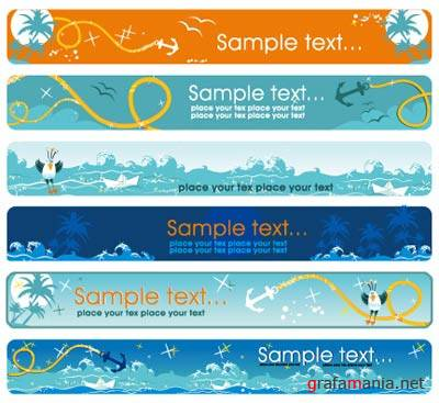 SS Summer Sea Banner Vectors