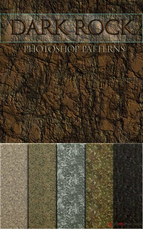 Заливки для Photoshop - Dark Rock Patterns