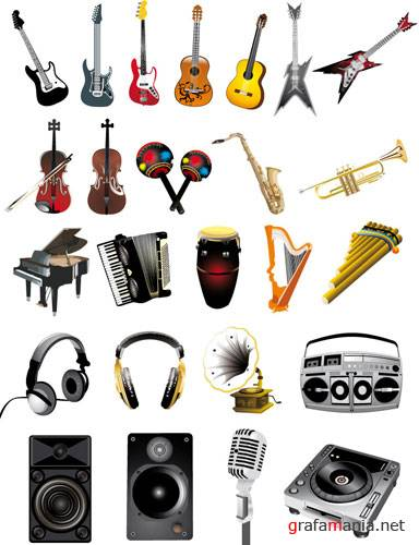 Music instruments and equipment