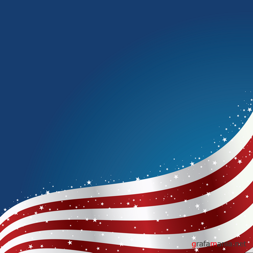 United States Flag Background Vector