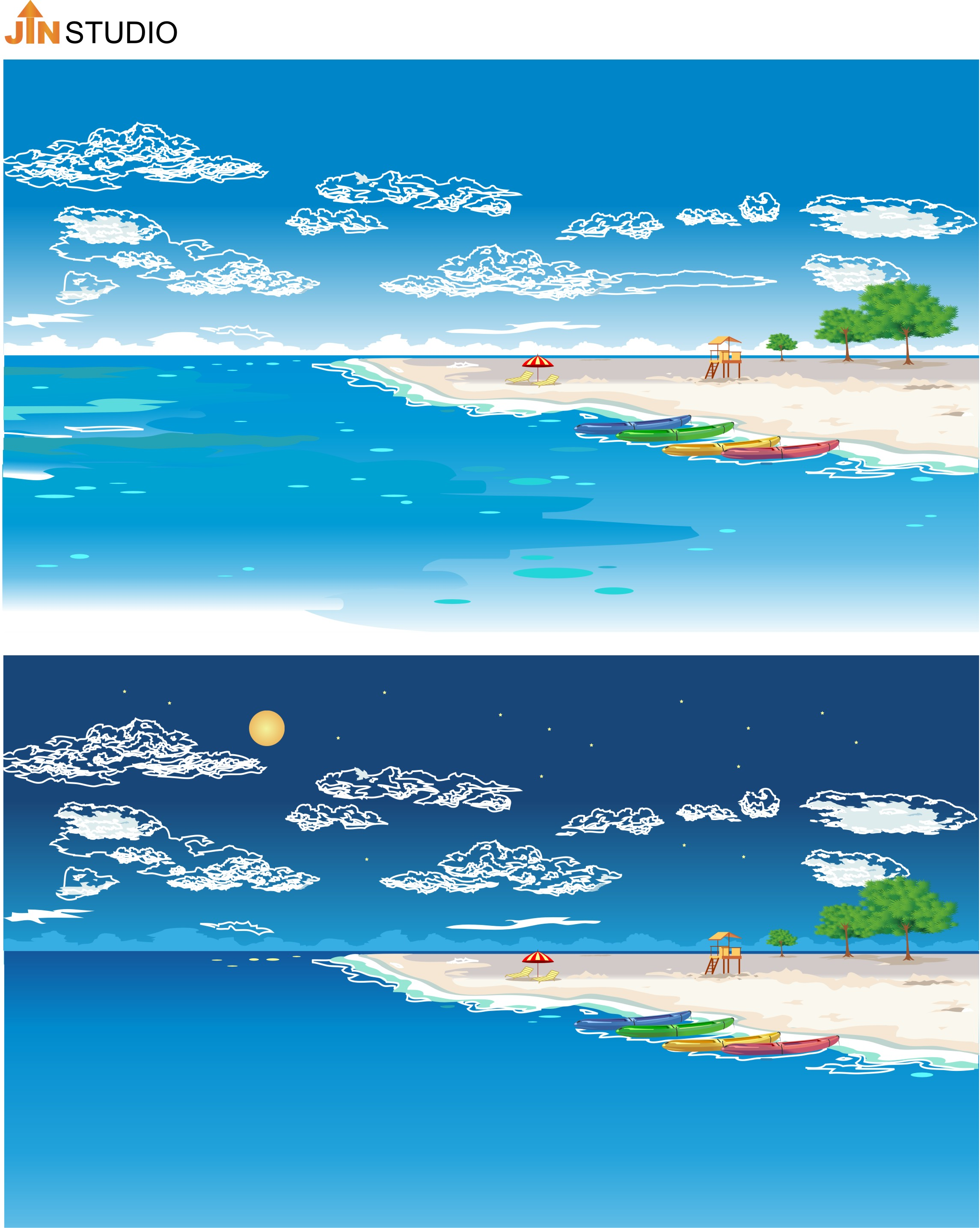 JIN Studio - Sandy Beach - Day&Night
