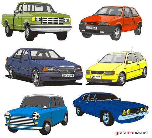 Vector cars for CorelDraw