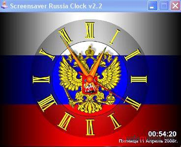Screensaver Russia Clock v.2.2