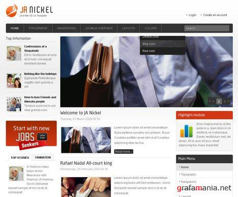 JA Nickel - Small Business Joomla Template