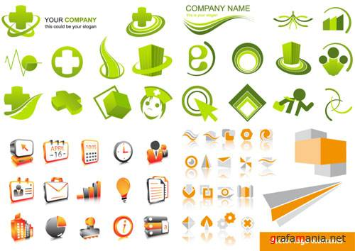 Vector Collection - Business Icons and Logos