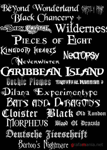 255 Black-Gothic-Doom-Metal Fonts