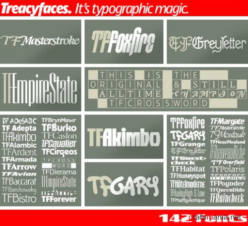 Treacy Face Fonts