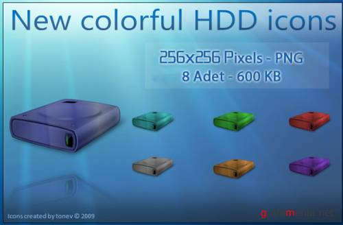 Colorful HDD Icons