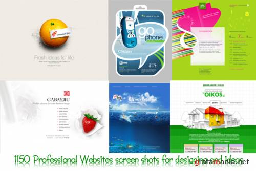 1150 Professional Websites screen shots for designing and ideas