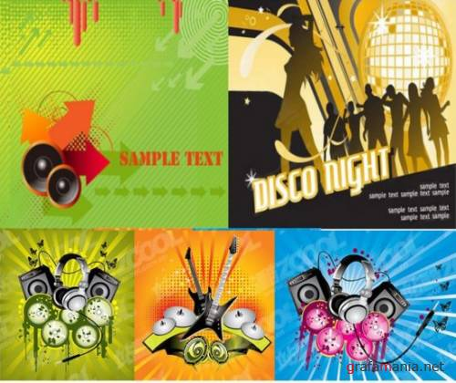 Music vector banners