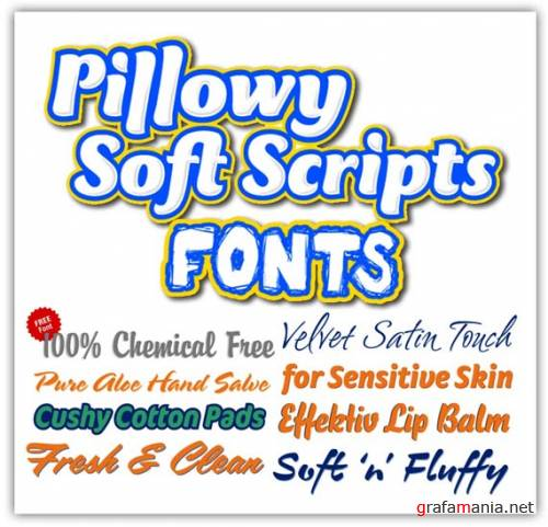Pillowy Soft Scripts Fonts