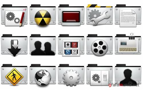 Silver 3d icons