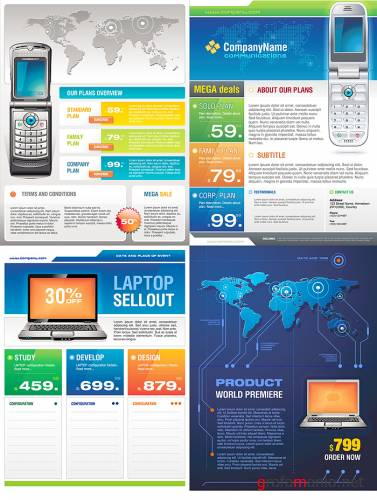 Corporate brochure vectors