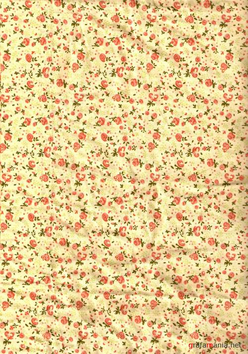 Текстуры - Floral Fabric Texture