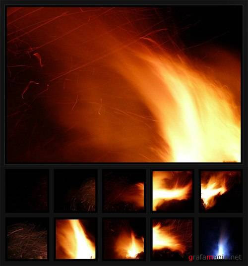 35 Hi-Res Fire, Flame and Firework Textures