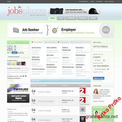 Joomla Template TemplatePlazza Jobs Plazza
