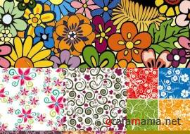 Flowers Vector Backgrounds