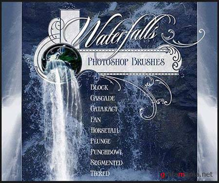 Waterfalls Photoshop Brushes