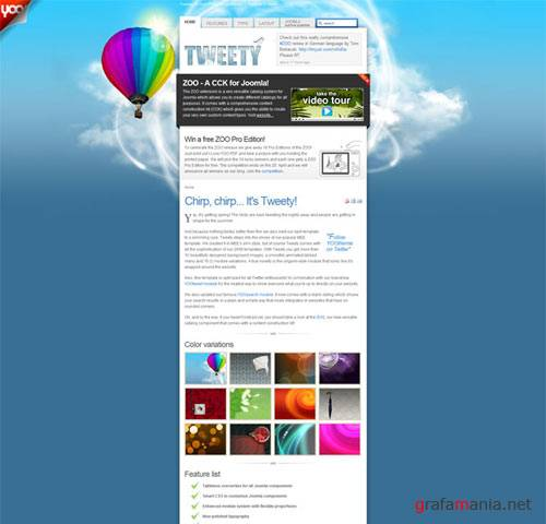 Tweety - April 09 Joomla Template from YOO