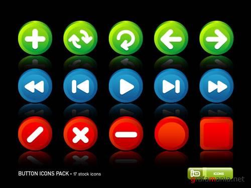 Иконки - Button Icons Pack