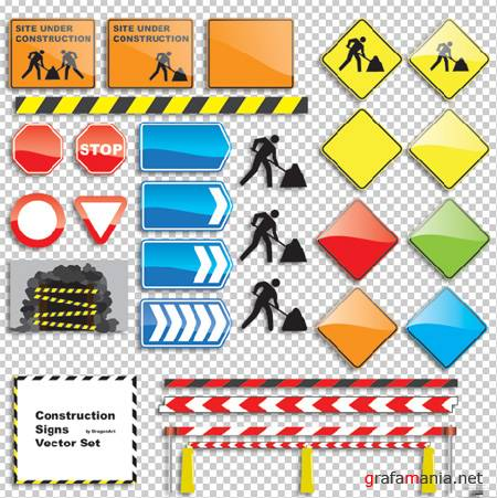 Construction Signs Set