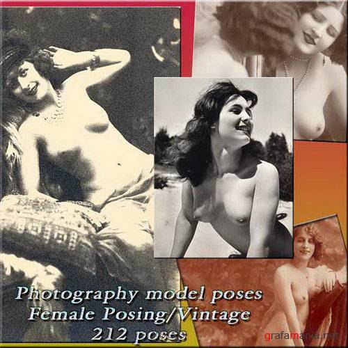 Photography model poses / Female Vintage