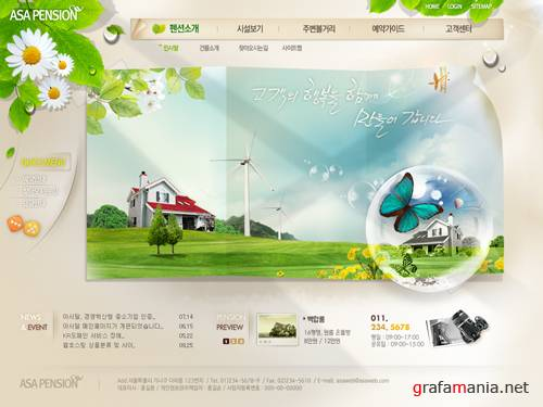 PSD Templates  Asa pension House village