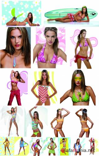 Alessandra Ambrosio - Swimwear Photoshoot