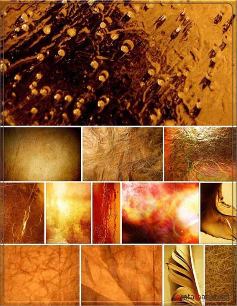 Yellow and gold textures