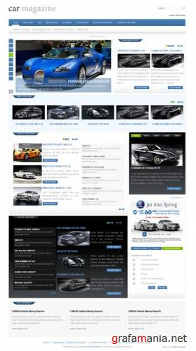 Car Magazine (март '09) Free template for Joomla