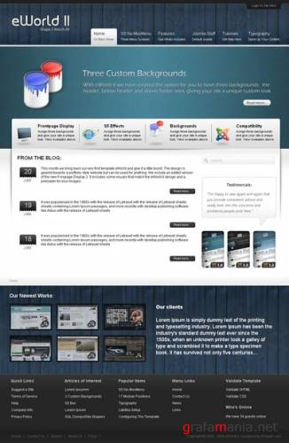 eWorld II FULL Free template for Joomla