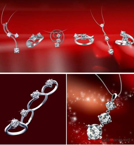 Jewelry with diamonds PSD