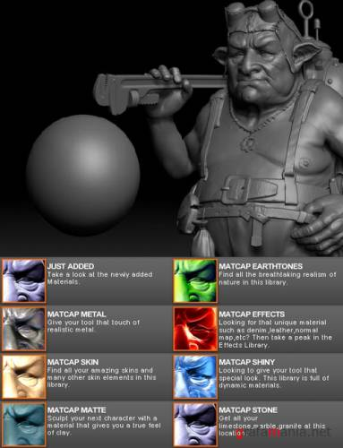Matcap library for ZBrush