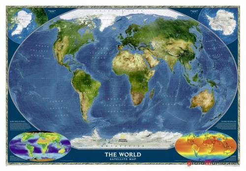 National Geographic World Satellite Map