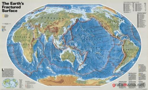 National Geographic Earth's Tectonic Plates Map